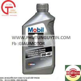 Nhớt Mobil 1 synthetic 0w40